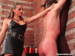 Hard ass flogging and hot wax play with sub guy movies at sgirls.net