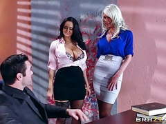 Brazzers - sexy threesome in the office videos