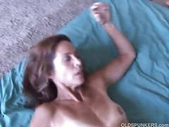Slim older babe enjoys a hard cock in her tight asshole movies at freekiloclips.com
