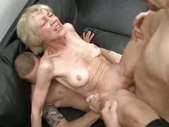 Skinny granny gets a facial movies at find-best-ass.com