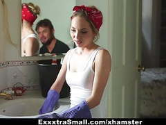 Exxxtrasmall - petite maid gets fucked for money tubes