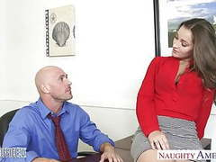 Hot office babe dani daniels riding cock movies at kilogirls.com