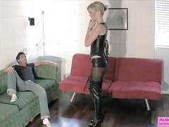 Dominatrix busts her roommates balls teasing ballbusting movies at kilovideos.com