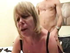 Mature blonde fucking young guy movies at kilomatures.com