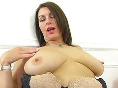 British milf raven is pleasuring her nyloned pussy movies at find-best-lingerie.com