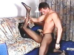 Girl in black pantyhose is getting fucked by guy movies at find-best-mature.com