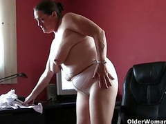 Office grannies in pantyhose need to get off tubes