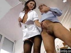 Brunette nurse gets fucked and jizzed videos