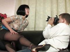 Black pantyhose and heels milf fucked videos