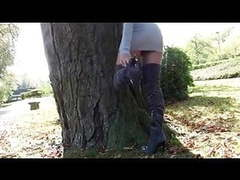 Taking off my  thigh high boots & pantyhose in public movies at find-best-hardcore.com