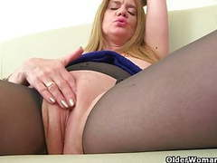 British milfs lily and amy love masturbating in pantyhose movies at kilosex.com