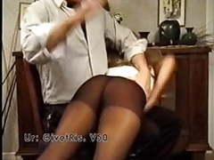 Spanking in pantyhose movies at kilovideos.com