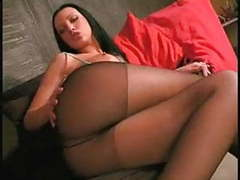 Sweet girl in black pantyhose movies at freekilomovies.com