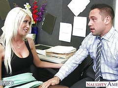 Busty blonde riley jenner fucking in the office tubes