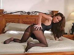 Asian pantyhose tease videos