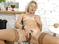 Mature blonde milf diana v plays with her hairy pussy movies at kilopics.net