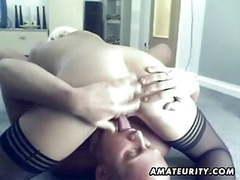 Blonde amateur girlfriend sucks and fucks with creampie movies at kilopics.com