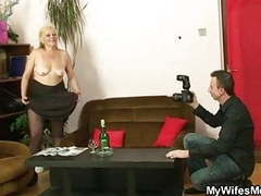Dirty photosession and sex with his old bag movies at freelingerie.us