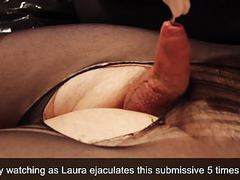 Domina makes cum 5 times a submissive doing cbt movies at freekilopics.com