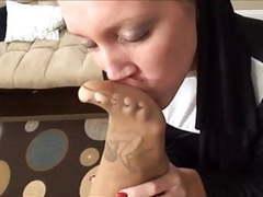 Nun's feet smell good movies at kilosex.com