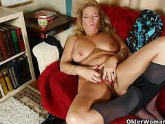 Office granny in pantyhose gives her old pussy a treat movies at kilopills.com