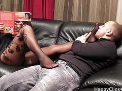 Stockinged foot smelling with ms. grace movies