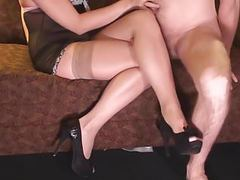 Perfect nylon legjob videos