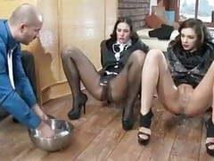 Glue and pantyhose videos