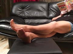 Mystepmom long nylon stockings footplay movies at find-best-ass.com
