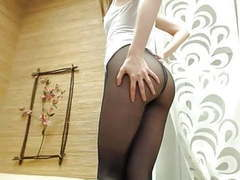 Cam girl dances and rubs in black pantyhose movies at find-best-pussy.com