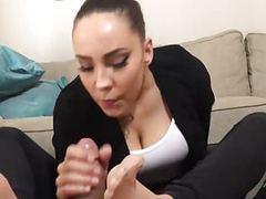 Sasha pantyhose feet on your cock tubes