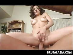 Super hot asian babe rides the dude's erect member movies at freekilosex.com