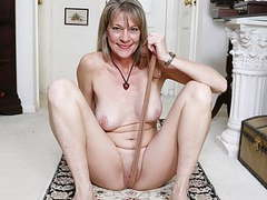 American milf lucky rubs one out on the floor. movies at find-best-mature.com