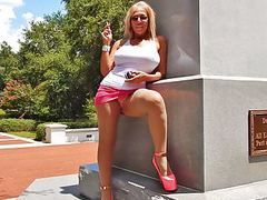 Smoking public upskirts in hooker heels videos