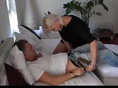 Blonde chick creampied in pantyhose movies at freekiloclips.com