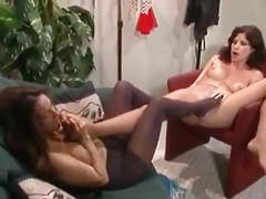 Retro lesbian pantyhose foot fun movies at freekilomovies.com