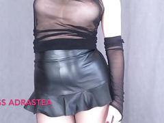 Miss adrastea black nylon and red nails videos