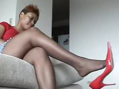 Favorite ebony nylons videos