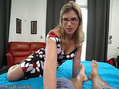 Slutty mom cory chase gives step son a helping hand & pussy movies