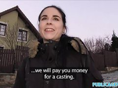 Public agent spanish student fucks for party cash videos