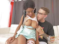 Black cutie with huge tits hooks up with guy movies at reflexxx.net