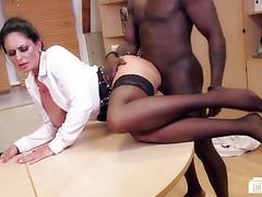 Bums buero - german milf sucks black cock at the office movies at freekiloporn.com