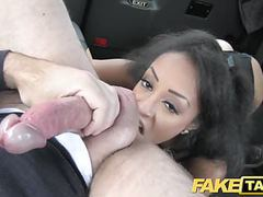 Fake taxi beautiful young black girl in bodysuit tubes