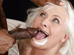Grey granny on big black cock movies