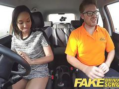Fake driving school pretty black girl seduced by instructor movies at find-best-pussy.com