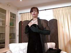 Holly kiss - a lady, all dressed in black! videos