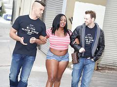Ebony jayden starr tries double penetration movies at find-best-panties.com