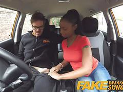 Fake driving school pretty petite black girl with nice tits videos