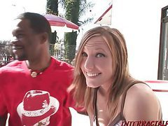 Sexy teen girl gets first monster black cock movies at freekilosex.com