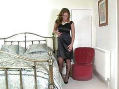 Milf in black satin movies at reflexxx.net